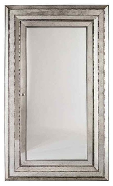 Glamour Floor Mirror With Storage - Transitional - Floor Mirrors ...