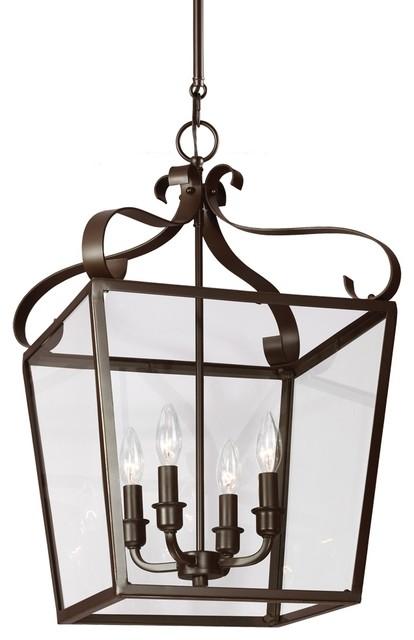 4-Light Lockheart Foyer Light, Heirloom Bronze.