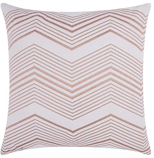 Mina Victory Luminecence Thin Chevron Rose Gold Throw Pillow Delectable Rose Gold Decorative Pillows