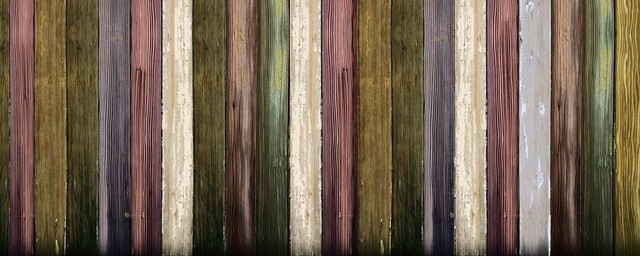 Colourful Wood Printed Fence Screen, 200x300 Cm