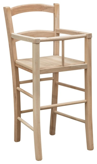 Solid Wood Country High Chair, Natural Beech