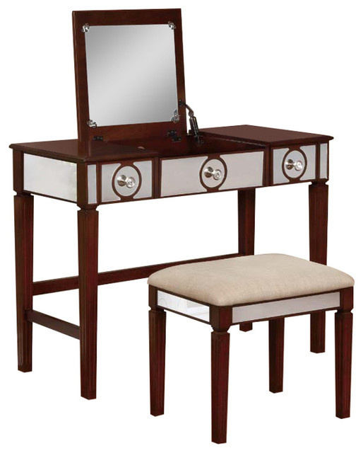 Madison Walnut Vanity Set.