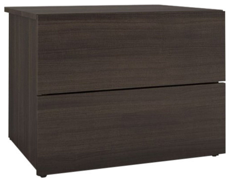 2-Drawer Night Stand, Ebony.