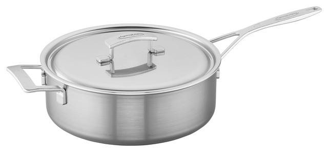 Demeyere Industry 5-Ply 6.5-Qt Stainless Steel Saute Pan.