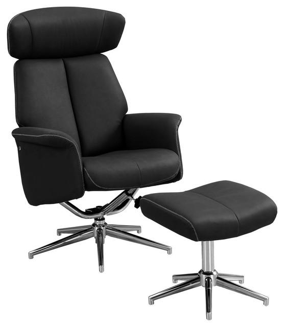 Tremendous Recliner 2 Piece Set Adjustable Headrest Black Bralicious Painted Fabric Chair Ideas Braliciousco