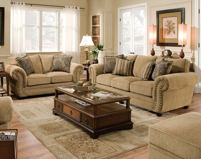 Outback Antique Sofa and Loveseat traditional living room  Traditional Living Room