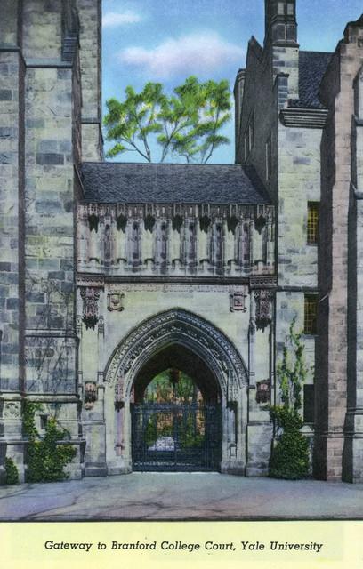 """yale University Gateway To Branford College Court View"" Print, 24""x36""."