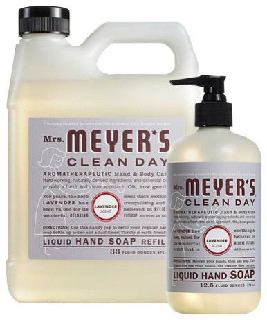 Mrs Meyers Clean Day Hand Soap And Refill Set