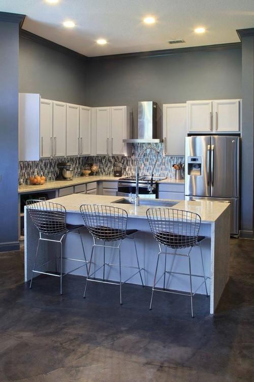 Full Kitchen remodel - Granite Waterfall, Backsplash, fixtures & more