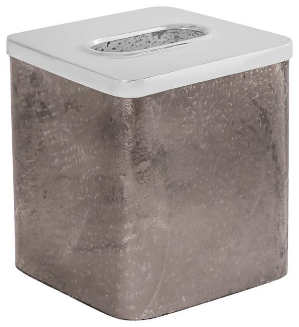 Elk Sablecrest Tissue Box 556371, Smoke Artifact, Stainless Steel