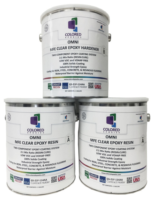 Clear Epoxy Resin Coating for Wood Tabletop, Concrete, Garage Floors, 3  Gallon