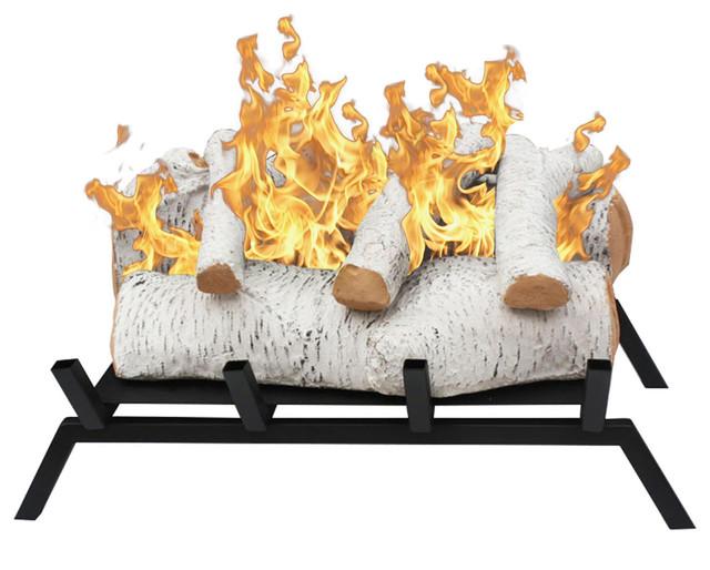 convert to ethanol log fireplace burner insert traditional rh houzz com