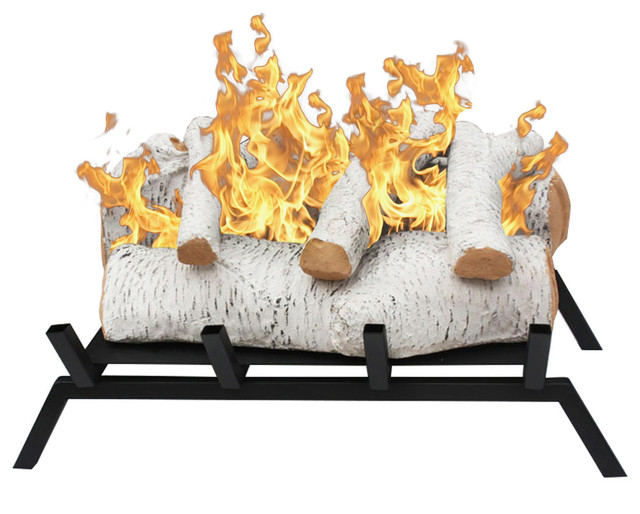 The Birch ethanol fireplace log set with grate makes converting your already existing wood-burning fireplace to an eco-friendly ventless ethanol fireplace