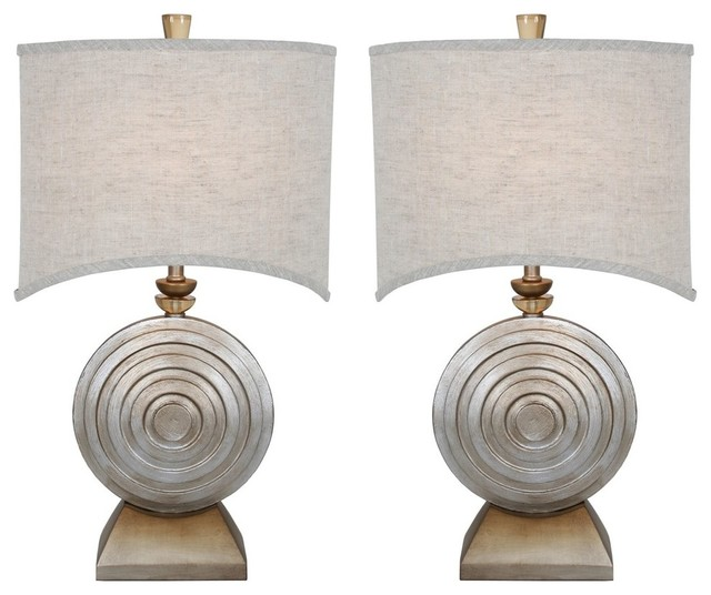 "Van Teal 131872pr Ofra 29""table Lamps, Set Of 2."