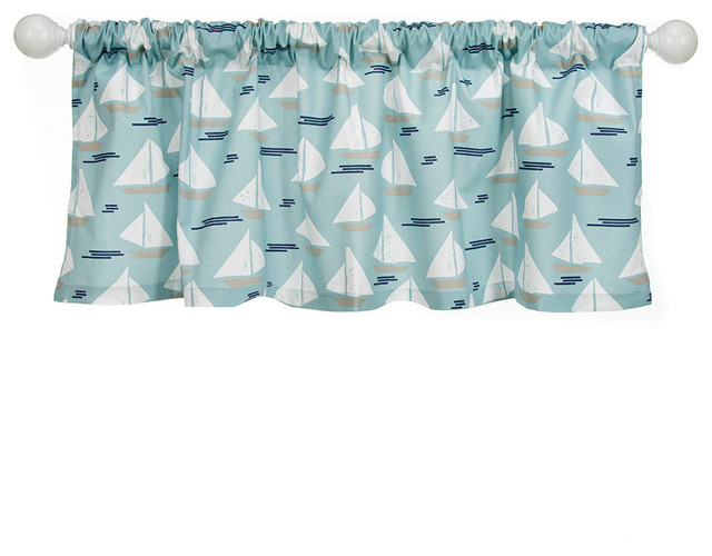 Little Sail Boat Window Valance, Sailboat.