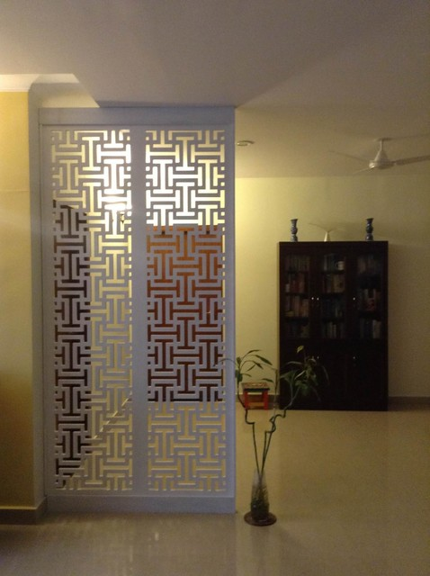 Room divider contemporary bengaluru by nouveau d for Interior jali designs