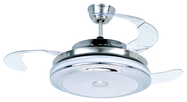 modern style led ceiling fan satin nickel bulbs lowes light kit with and remote in india