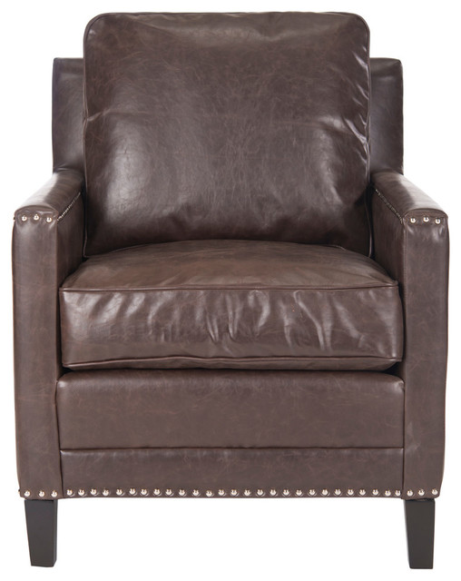 Buckler Nailhead Club Chair Transitional Armchairs And