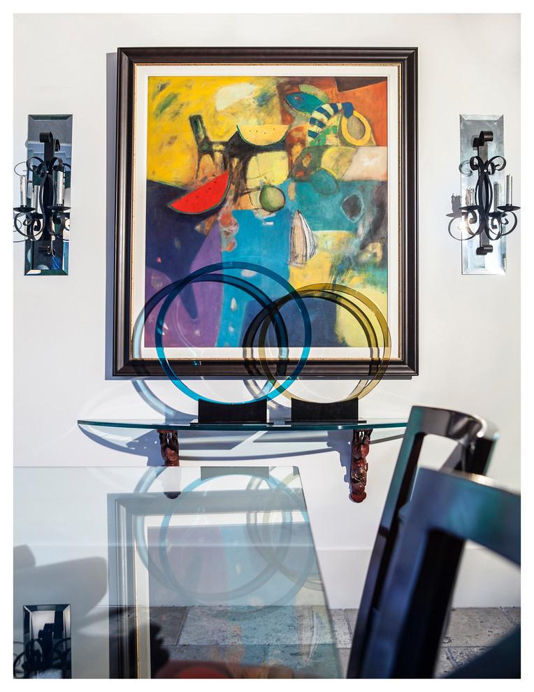 Dining room - transitional dining room idea in Miami