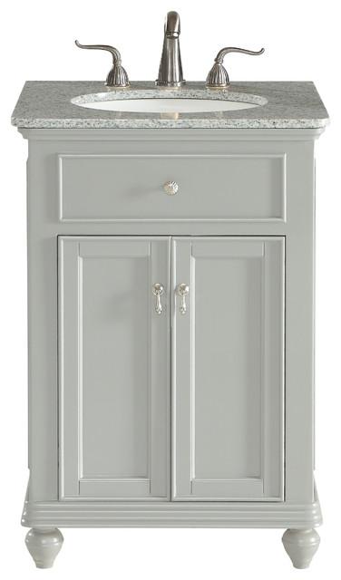 24 Single Bathroom Vanity Set Light Gray