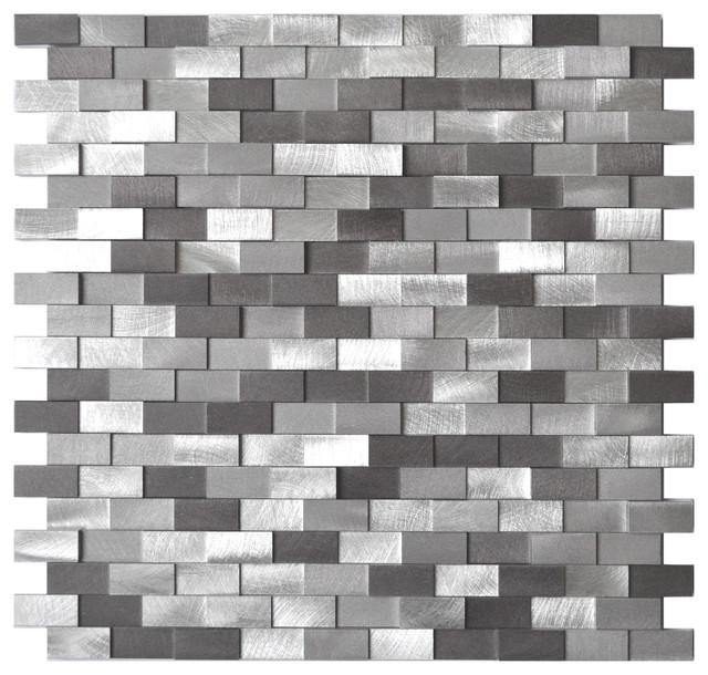3d raised brick pattern aluminum mosaic tile gray blends sample. Kitchen Backsplash Tile Samples  Natural Wood Mosaic Tile Rustic
