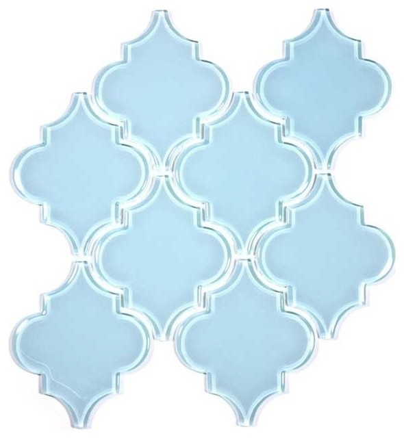 """12""""x13"""" Arabesque Collection, Set of 11, Baby Blue"""