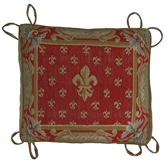 Aubusson Fleur De Lis Chair Cushion 18 Quot X20 Quot Traditional