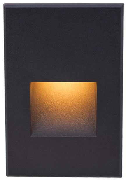 Wac-Lighting Ledme 12v V Step/wall Warm Amber Soft, Black, 4021-Ambk.