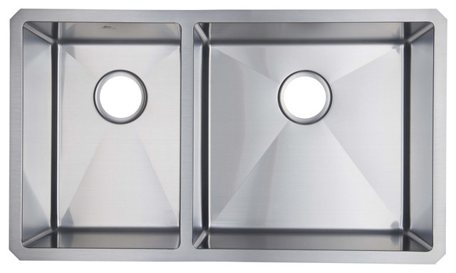 Starstar 40/60 Double Bowl Undermount 304 Stainless Steel Kitchen Sink.