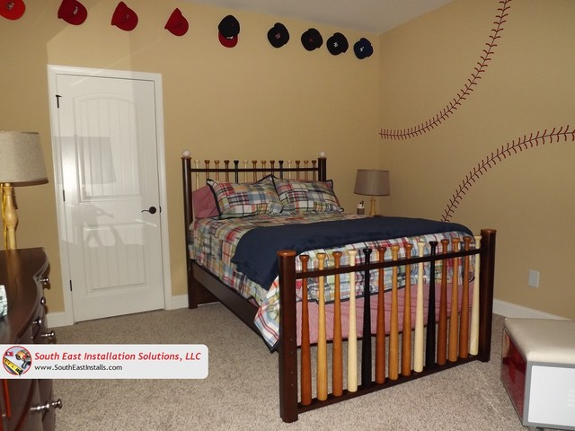 Baseball Themed Bedroom bedroomBaseball Themed Bedroom   Bedroom   Other   by South East  . Baseball Bedroom. Home Design Ideas