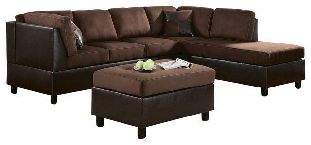 9909ch Homelegance Comfort Living 2 Piece Two Tone Room Set