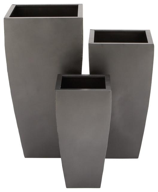 Rectangular Metal Planters Set Of 3