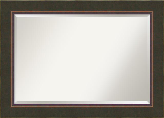 Bathroom Mirrors By Size bathroom mirror, milano bronze - contemporary - bathroom mirrors