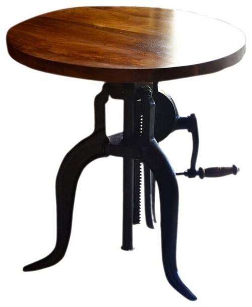 Charmant Alexandria Adjustable Accent Table, Chestnut