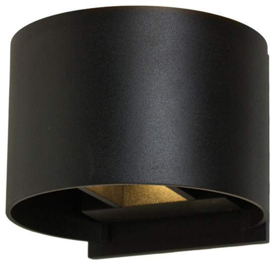 7W LED Round Wall Sconce With Integrated Non-Dimmable Driver - Contemporary - Outdoor Wall ...