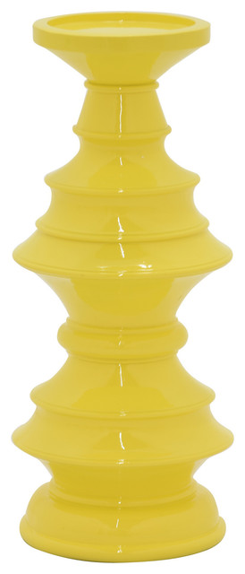 Three Hands Yellow Candle Holder
