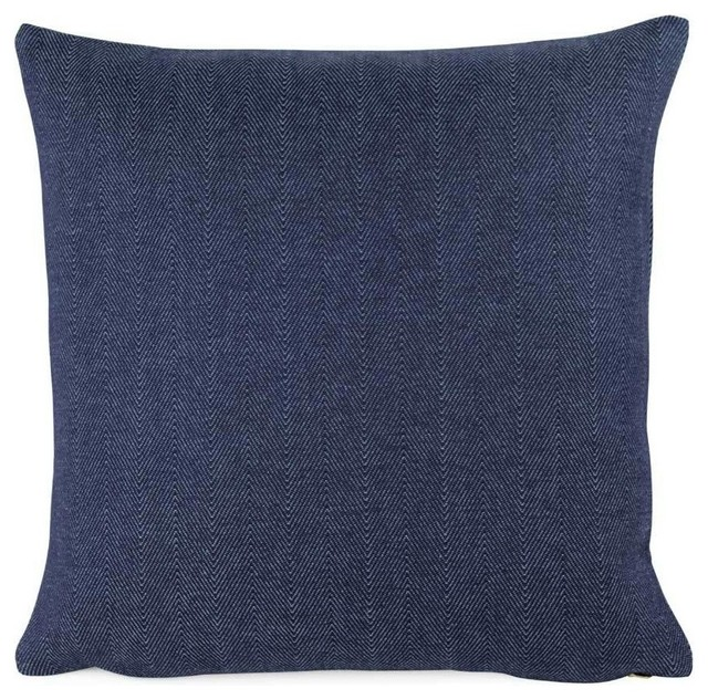 Chey Navy Blue Pillow Cover Contemporary Decorative Pillows By Chloe And Olive Llc