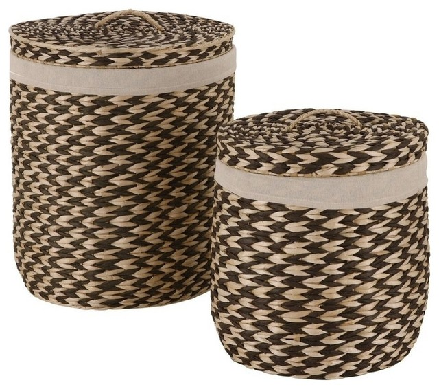 Brazilian hamper set with lid contemporary hampers by morestorage inc - Modern hamper with lid ...