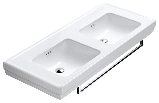Canova Royal 125 cm Double Basin, White Gloss