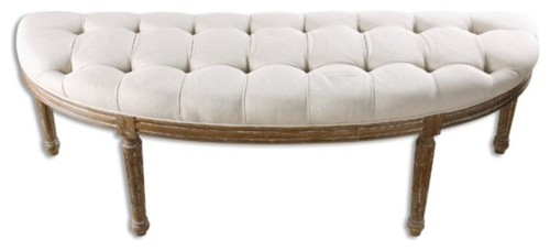 Uttermost Leggett Bench, Off White