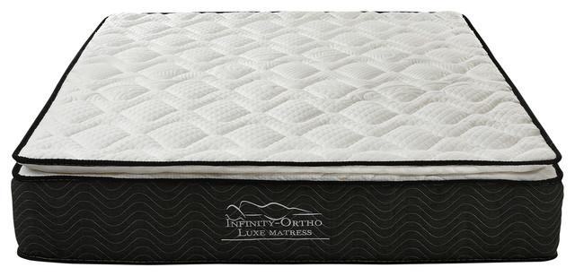 "Swiss Ortho 12"" Pillow Top Pocket Spring Mattress Green Foam Certified, Twin."
