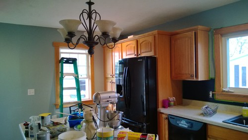 Need Paint Color With Oak Cabinets
