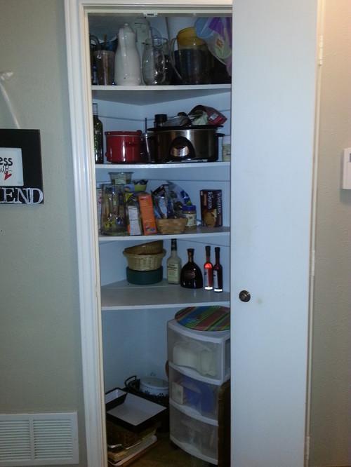 Pantry Weird Shaped Closet Challenge