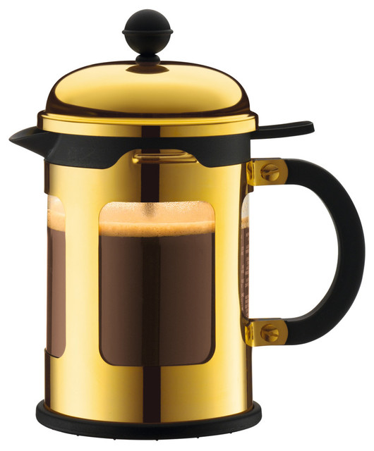Bodum Chambord French Press Coffee Maker, Stainless Steel, 0.5 Liter, 17 Ounce.