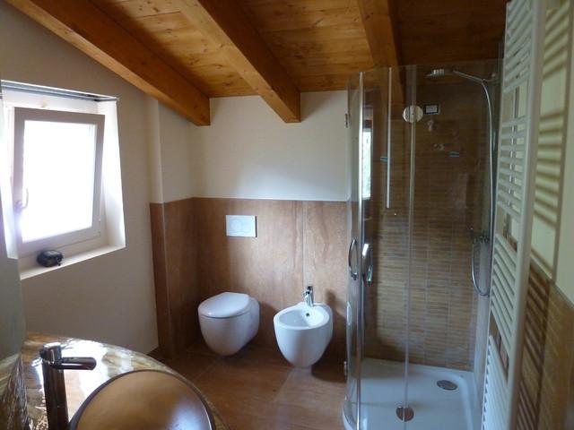 realizzazione top lavabo con rifacimento bagno - moderno - stanza ... - Realizzazione Bagni Moderni