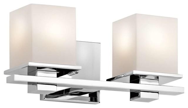 Tully 2-Light Bathroom Vanity Lights, Chrome.