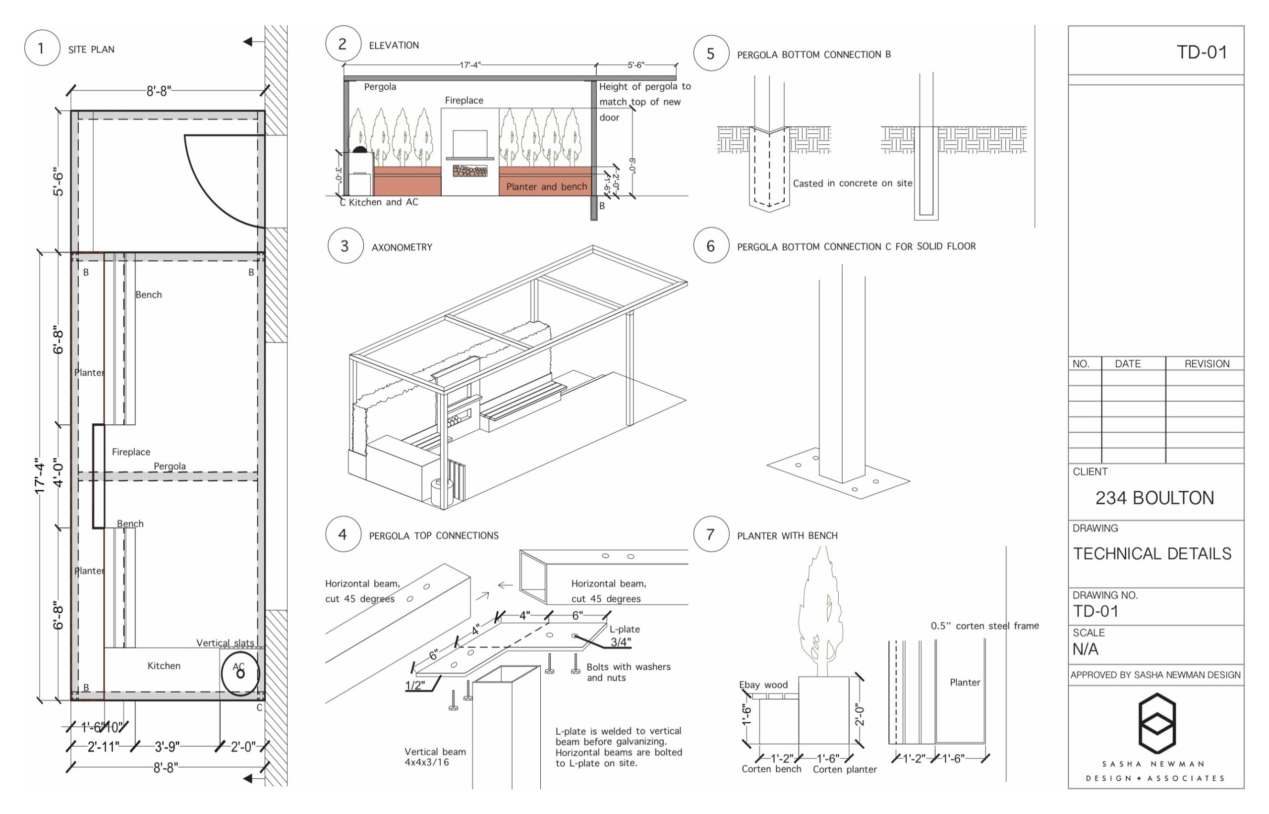 CAD Drawings presentation with details and 3D renderings
