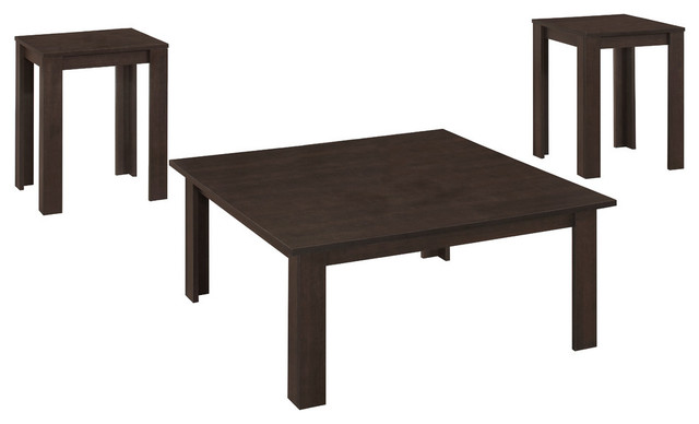 3Piece Table Set Transitional Coffee Table Sets by Monarch
