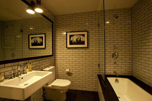 Guest Bathroom   New York City Tribeca Loft Luxury Renovation Contemporary