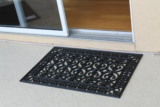 Rubber Paisley 24x48 Beautifully Hand Finished Elegant Large Double Doormat.